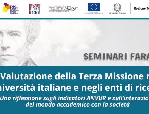 Seminari Faraday: la valutazione della terza missione nelle università italiane e negli enti di ricerca