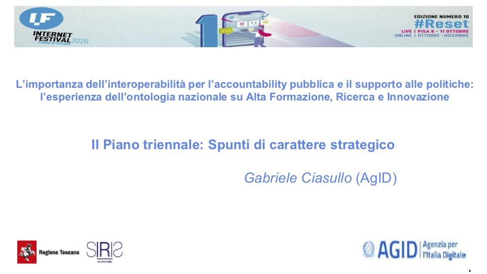 Il Piano Triennale di AgID. Spunti di carattere strategico