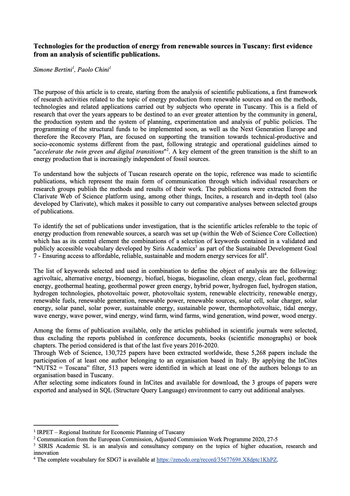 La ricerca sui Beni Culturali in Toscana - ambiti di ricerca e analisi delle competenze
